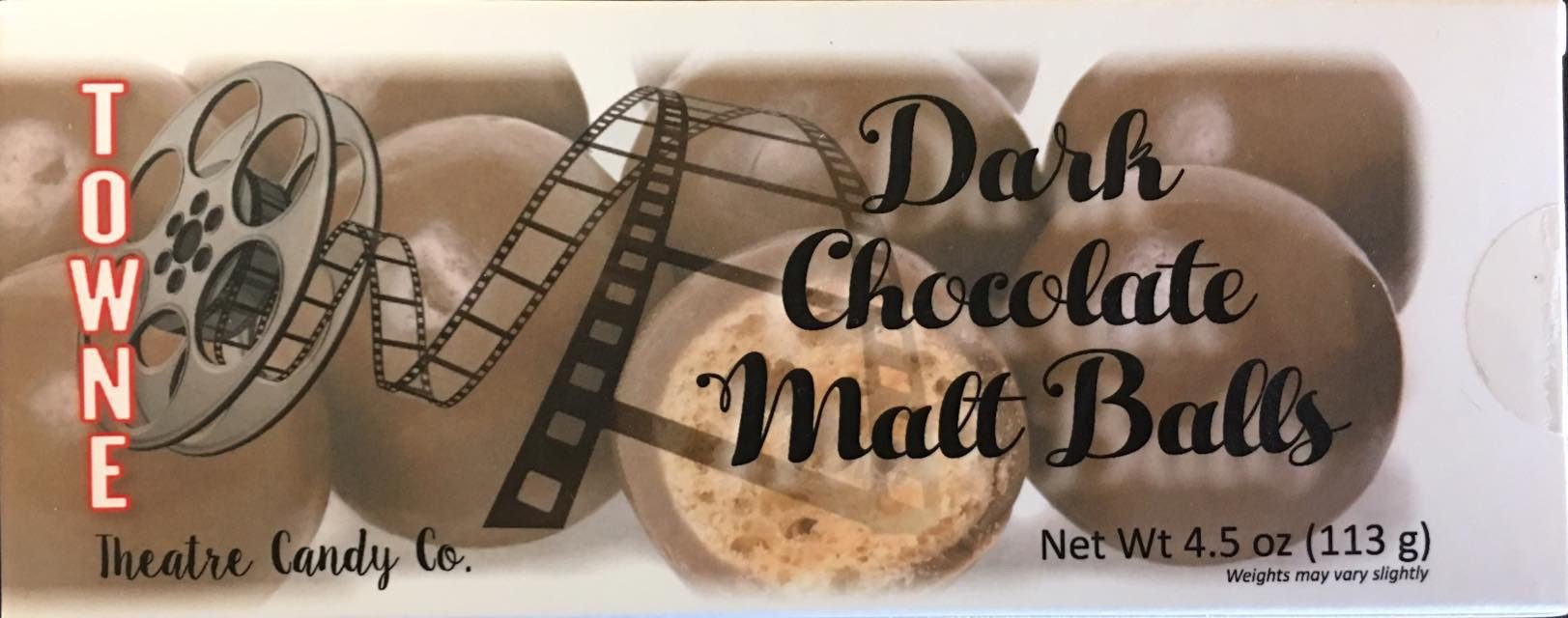 Dark Chocolate Covered Malt Balls pkg